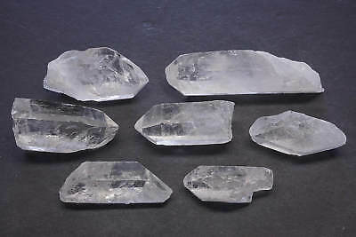 5-7 Quartz Crystals 1/4 Lb Lots Natural Clear Points Brazil 1125 Carats 2nd