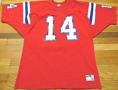 04d5c450c Retro Red 80 s Vintage New England Patriots Steve Grogan Signed Jersey Size  Xl