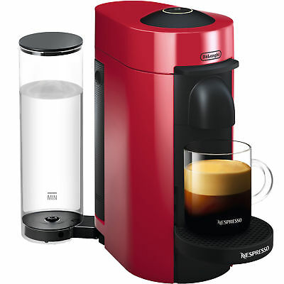 Nespresso Vertuoplus Coffee and Espresso Machine by Delonghi, Red ENV150R