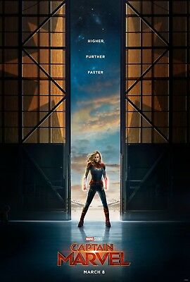 Captain Marvel movie poster (a)  Brie Larson - 11 x 17 inches
