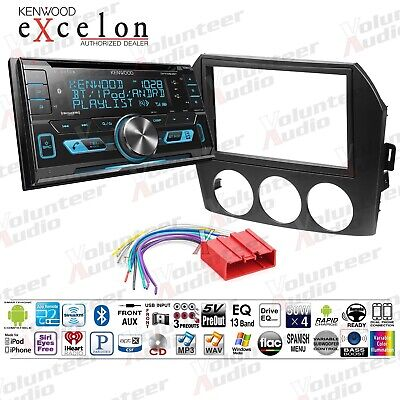 KENWOOD DOUBLE DIN Car Bluetooth USB CD Player W/ Install
