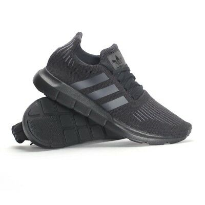 9a15310434291 NEW IN BOX Adidas SWIFT RUN SHOES in ALL BLACK sz 11 -  51.75