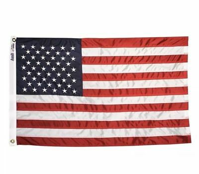 Annin US American Flag 3 x 5 FT 100% nylon Embroidered Stars fade resistant dye