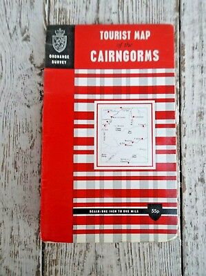 Vintage O S Map, Tourist Map Of The Cairngorms - One Inch To One Mile