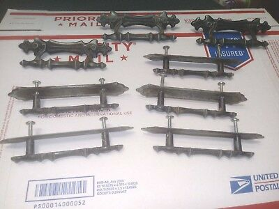 lot of 8  BARN DOOR Handles Pulls Drawer rustic aluminum antique style Gate 4.5""