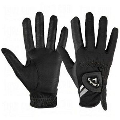 NEW Callaway Thermal Grip Men's Pair of Black Golf Gloves Pick Size & Fit