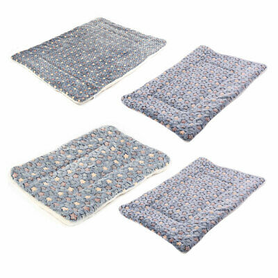 Pet Dog Flannel Rectangle Shaped Star Printed Sleeping Mat Blanket Cushion Bed