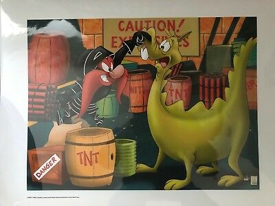 Genuine Warner Brothers Yosemete Sam Limited Edition Giclee