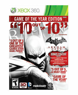 Batman Arkham City Game of the Year Edition ~ Xbox 360 ~ Brand New and Sealed ea