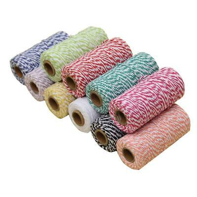 DIY 100M Wrap Gift Link Paper Tag Burlap Ribbon Twine Rope Cord String