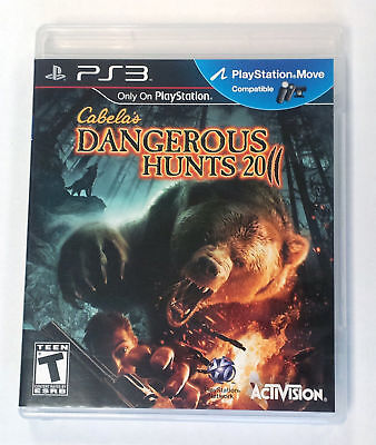 Cabela's Dangerous Hunts 2011 Sony PlayStation 3 PS3 GAME COMPLETE w/3D GLASSES