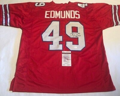 05762ceb8 Tremaine Edmunds Autographed Buffalo Bills Custom Jersey JSA Witnessed COA