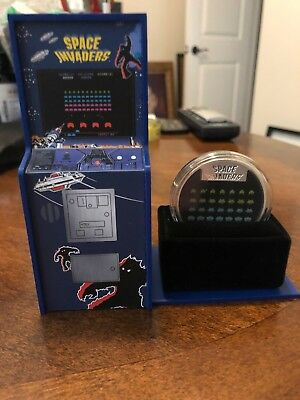 2018 Space Invaders 40Th Anniversary  - 1 Oz Silver Coin -  Lenticular