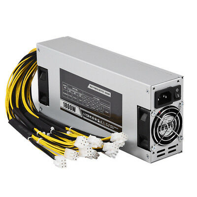 NEW 1800W APW3+ Switching Power Supply Antminer Bitcoin Mining S7/S9/T9/D3/L3...