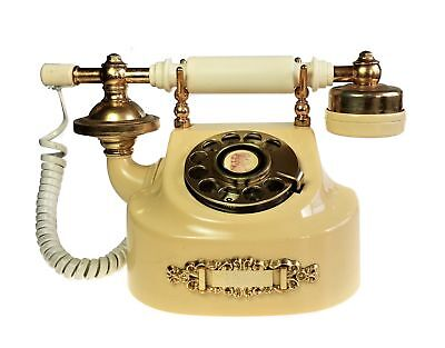 Western Electric French Princess Rotary Desk Telephone Illinois Bell Cream