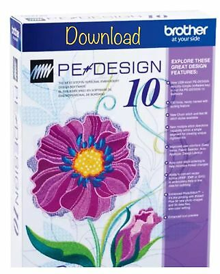 Brother PE Design 10 Machine Digitizing Embroidery Program Full Version