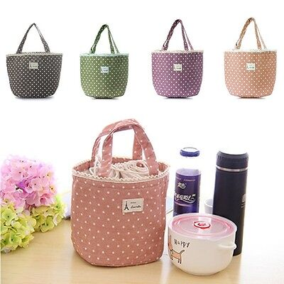 Portable Thermal Insulated Cooler Picnic Lunch Box Storage Bag Pouch Handbag BM