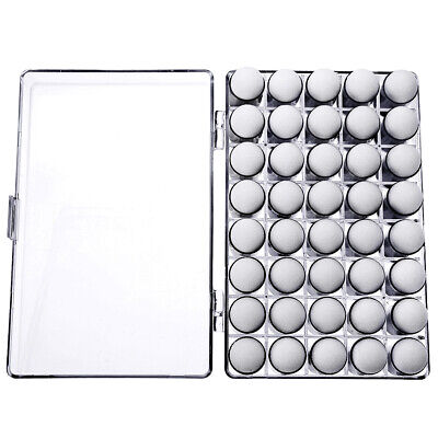 AU 40Pcs Finger Sponge Daubers Paint Ink Pad Stamping Brush Craft + Storage Box