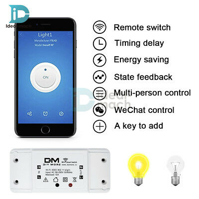 DIY Smart Home WiFi Wireless Switch Module for Apple Android APP Replace Sonoff