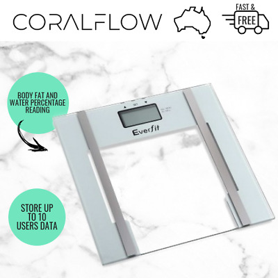 Everfit Digital Body Fat Scale Bathroom Gym Weight Lose Water LCD Electronic
