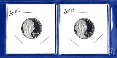 2018 S  AND 2019 S Jefferson Nickel Set-Gem Proof-IN STOCK-Two Coins