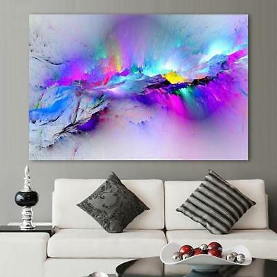 Abstract Colorful Clouds Canvas Print (5 Sizes Available)