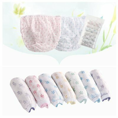 Women Disposable Travel Postpartum Panties Non-woven Underpants Underwear x 7