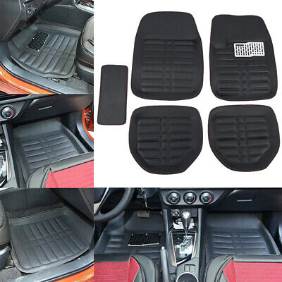 5pcs Car Auto Floor Mats FloorLiner Front&Rear Carpet All Weather Mat Universal