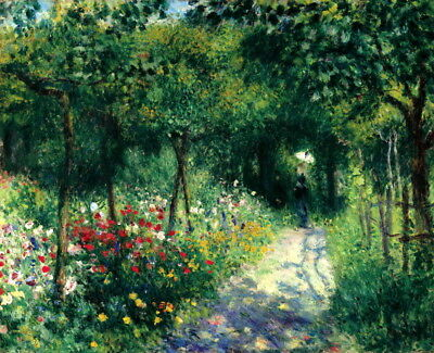Art Giclee Print Women in the Garden Oil painting HD Printed on Canvas P1200