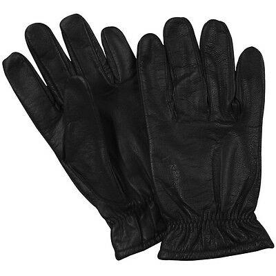 NEW Tactical Police Law Security Made w Kevlar Leather Extended Cuff Gloves - M