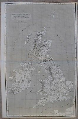 1818 Antique Map - ROMAN BRITAIN with Ireland & adjacent islands - Abraham Rees