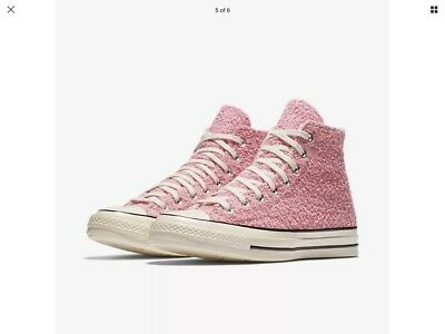 19073fa95b147 Converse Chuck Taylor All Star 70 Fuzzy Bunny High Top Pink 155447C UK 10.5  NEW