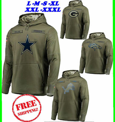 Men s DALLAS COWBOYS Olive Salute to Service Sideline Therma Hoodie 2019🔥 9f4c26b7e