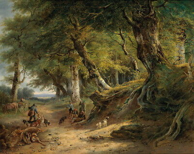 Hunter Hunting Scenery Oil painting HD Giclee Printed on canvas P1199