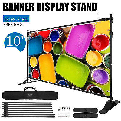 Step and Repeat 10x8' Banner Stand Adjustable Telescopic Trade Show Backdrop