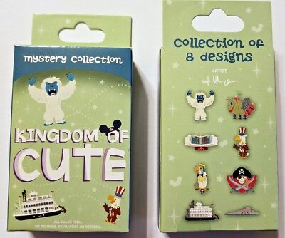 Disney Collectible Pin Pack KINGDOM OF CUTE Series 2 Mystery Box 2 Pins - SEALED