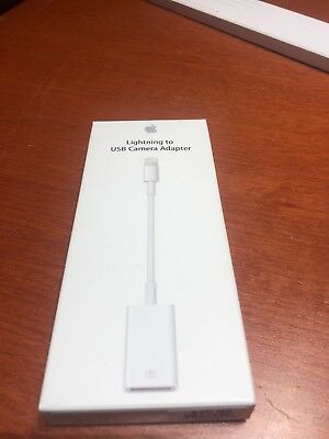 Genuine Apple Lightning to USB Camera Adapter MD821AM/A Model A1440 NEW (1169)