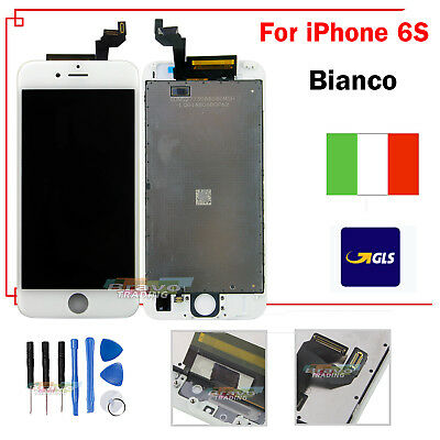 Display Schermo Per Apple Iphone 6S Bianco Touch Screen Lcd Retina Frame Vetro