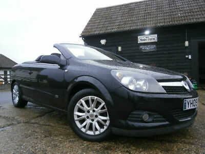 0909 VAUXHALL ASTRA 1.8i 16v TWIN TOP SPORT CONVERTIBLE LOW MILES 40K FSH BLACK