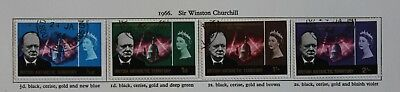 British Antarctic Territory QEII 1966 Winston Churchill Set (4) SG16-19 Used