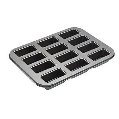 Master Class Non-Stick 12-Hole Mini Loaf Tin / Cake Pan with Loose Bases, 35.5 x