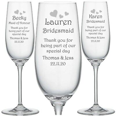 Personalised Engraved Glass, Wine, whisky, Pint, Champagne Wedding Bridesmaid