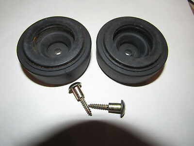 2 Original Turntable feet with screws Pioneer Pl-512 PL-514 PL-516 Free Shipping