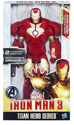 IRON MAN 3 ACTION FIGURE - 30 cm - SERIE TITAN HERO - HASBRO - MARVEL