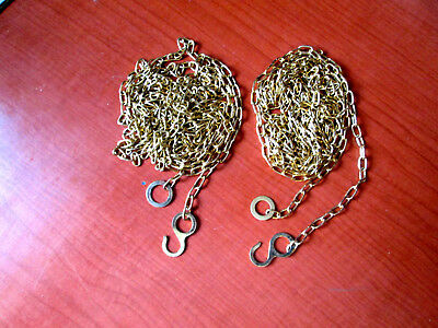 "Lot of 2 New Old Stock Cuckoo Clock Weight Chains 77""   48 LPF.   (277A)"