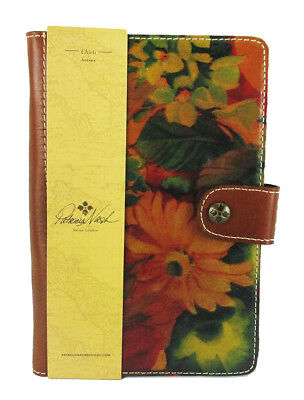 #PATRICIA NASH HERITAGE Chieti Multi-Color Italian Leather Agenda 2018 Msrp $69