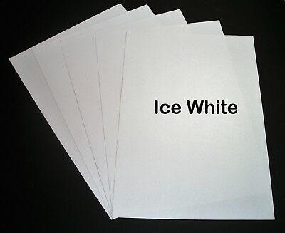 Ice White Shimmer Card (Ice Silver Double Sided Card)
