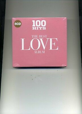 100 Hits - The Best Love Album - Bangles Drifters Europe Survivor - 5 Cds - New!