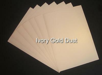 A4 Ivory Gold Dust Shimmer Card (China White Pearlised Double Sided Card)