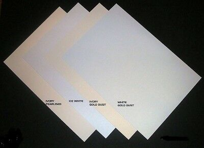 A4 Shimmer Card (Ice White, White Gold Dust, Ivory Gold Dust) various weights